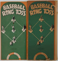 Baseball Collectibles:Others, 1930's Baseball Ring Toss Game....
