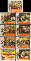 "Movie Posters:War, Back to Bataan (RKO, 1945). Lobby Card Set of 8 & Lobby Card(11"" X 14""). War.. ... (Total: 9 Items)"