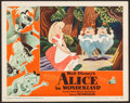 "Movie Posters:Animation, Alice in Wonderland (RKO, 1951). Lobby Card (11"" X 14"").Animation.. ..."