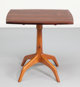 A John Nyquist Indonesian Rosewood and English Elm Pedestal Table, circa 1960 Incised JN to the underside 24 x 24-1/4...