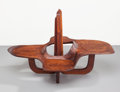 Furniture : American, An American Walnut and Maple Sculptural Table, mid 20th century.36-1/2 x 53 x 35 inches (92.7 x 134.6 x 88.9 cm). ...