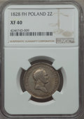 Poland, Poland: Nicholas I of Russia 2 Zlote 1828-FH XF40 NGC,...