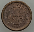 Colombia, Colombia: Lazareto Leper Colony Quartet of brass Coins 1901,...(Total: 4 coins)
