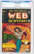Golden Age (1938-1955):Horror, Web of Mystery #8 (Ace, 1952) CGC VG 4.0 Off-white to whitepages....