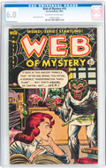 Golden Age (1938-1955):Horror, Web of Mystery #14 (Ace, 1952) CGC FN 6.0 Off-white to whitepages....