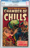 Golden Age (1938-1955):Horror, Chamber of Chills #23 (Harvey, 1954) CGC FN- 5.5 Off-white to whitepages....