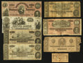 Confederate Notes:1863 Issues, Confederate Notes and a Bond Coupon Plus an Obsolete.. ... (Total: 8 items)