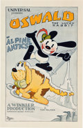 "Movie Posters:Animated, Oswald the Lucky Rabbit in Alpine Antics (Universal, 1929). OneSheet (27"" X 41"").. ..."