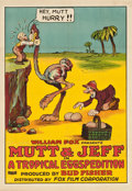 "Movie Posters:Animation, Mutt & Jeff in A Tropical Eggspedition (Fox, 1919). One Sheet(27"" X 41"").. ..."