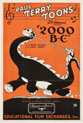 """Movie Posters:Animation, Terrytoons: 2000 B.C. (Educational Pictures, 1931). One Sheet (27"""" X 41"""").. ..."""