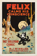 "Movie Posters:Animation, Felix Calms His Conscience (M.J. Winkler, 1923). One Sheet (27"" X 41"").. ..."