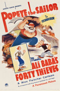 "Movie Posters:Animated, Popeye the Sailor Meets Ali Baba's Forty Thieves (Paramount, 1937). One Sheet (27"" X 41"").. ..."