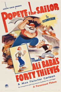 "Popeye the Sailor Meets Ali Baba's Forty Thieves (Paramount, 1937). One Sheet (27"" X 41"")"