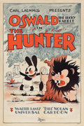 "Movie Posters:Animated, Oswald the Lucky Rabbit in The Hunter (Universal, 1931). One Sheet(27"" X 41"").. ..."