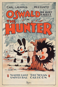 """Oswald the Lucky Rabbit in The Hunter (Universal, 1931). One Sheet (27"""" X 41"""")"""