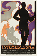 "Movie Posters:Drama, Soldiers of Fortune (Realart, 1921). Swedish Linocut One Sheet (23.25"" X 35"").. ..."