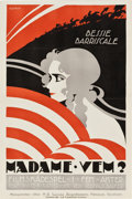 "Movie Posters:Drama, Madam Who (W.W. Hodkinson Corporation, 1919). Swedish Linocut OneSheet (23.25"" X 35"").. ..."