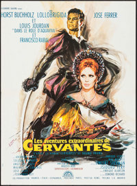 "Cervantes (Lux, 1968). French Affiche (23"" X 31.5"") Alternative Title: Young Rebel. Adventure"