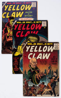 The Yellow Claw #1-4 Complete Run Group (Atlas, 1956) Condition: Average GD/VG.... (Total: 4 Comic Books)