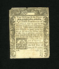 Colonial Notes:Connecticut, Connecticut June 1, 1780 2s/6d Fine. A large repair has repairedthe slit cancel of this note that also shows edge nicks and...