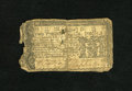 Colonial Notes:Maryland, Maryland March 1, 1770 $2/3 About Good. This note has been cut inhalf and it also has a contemporary backing that was sewed...