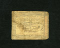 Colonial Notes:Pennsylvania, Pennsylvania October 1, 1773 18d Very Good. A moisture stain isfound on this note....