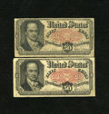 Fractional Currency:Fifth Issue, Two 50c Fifth Issues Very Good.. ...