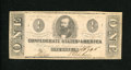 Confederate Notes:1862 Issues, T55 $1 1862. Light handling and a stamp hinge spot are found onthis Ace....