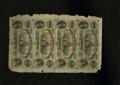 Obsoletes By State:Louisiana, Shreveport, LA- Citizens' Bank of Louisiana $5-$5-$5-$5 Uncut Sheet. The notes are Crisp Uncirculated while chipping and...