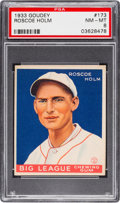 Baseball Cards:Singles (1930-1939), 1933 Goudey Roscoe Holm #173 PSA NM-MT 8....