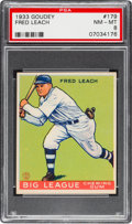 Baseball Cards:Singles (1930-1939), 1933 Goudey Fred Leach #179 PSA NM-MT 8....