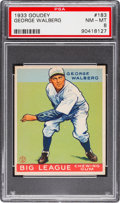 Baseball Cards:Singles (1930-1939), 1933 Goudey George Walberg #183 PSA NM-MT 8....