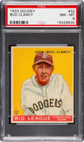 Baseball Cards:Singles (1930-1939), 1933 Goudey Bud Clancy #32 PSA NM-MT 8 - None Higher....