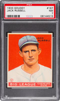 Baseball Cards:Singles (1930-1939), 1933 Goudey Jack Russell #167 PSA NM 7....
