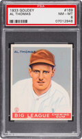 Baseball Cards:Singles (1930-1939), 1933 Goudey Al Thomas #169 PSA NM-MT 8 - None Higher!...