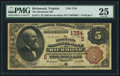 National Bank Notes:Virginia, Richmond, VA - $5 1882 Brown Back Fr. 471 The Merchants NB Ch. #(S)1754. ...