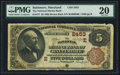 National Bank Notes:Maryland, Baltimore, MD - $5 1882 Brown Back Fr. 477 The National Marine BankCh. # (E)2453. ...