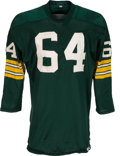 Football Collectibles:Uniforms, 1967 Jerry Kramer Super Bowl I Game Worn Green Bay Packers Jersey....