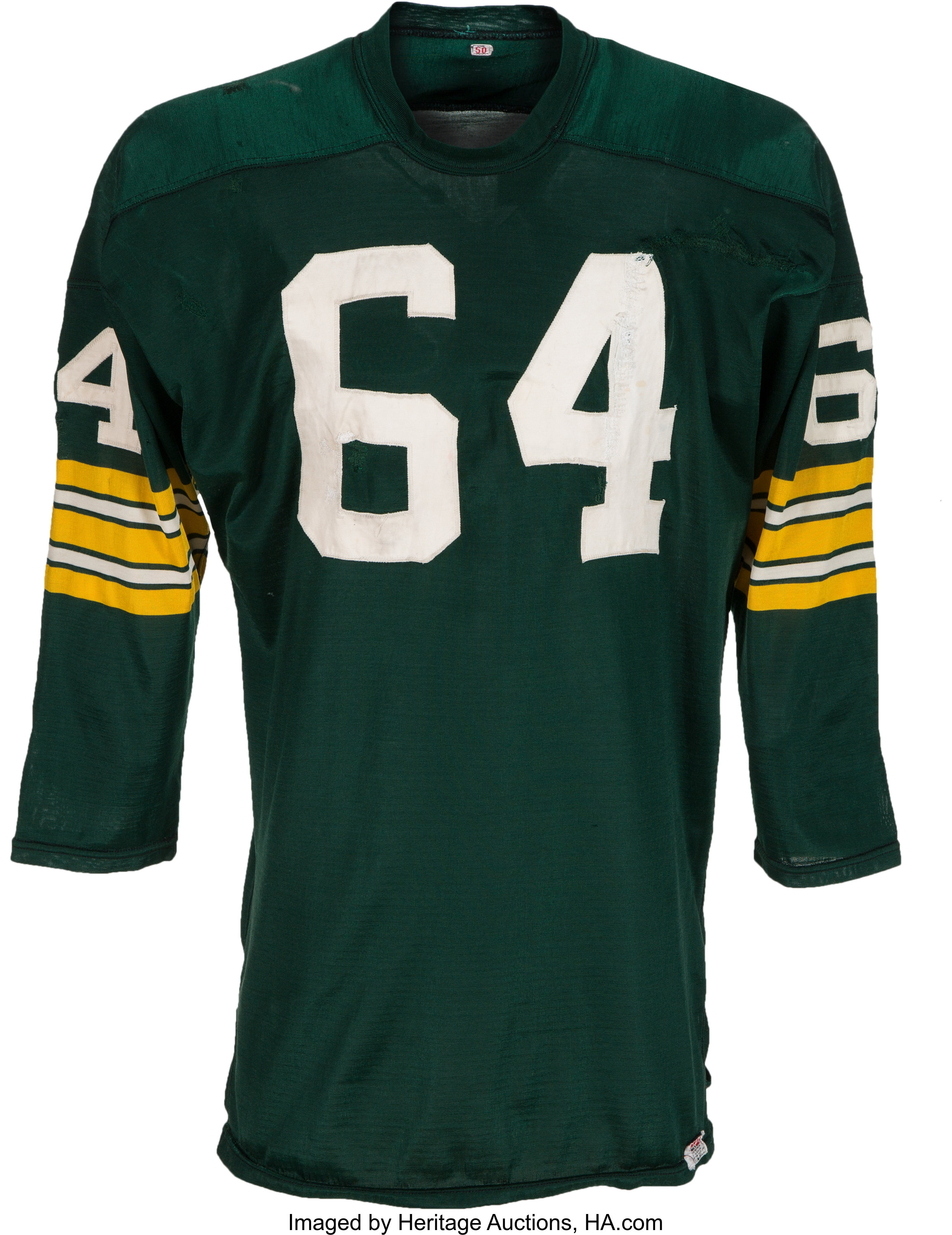 new styles 89eff e46e1 1967 Jerry Kramer Super Bowl I Game Worn Green Bay Packers ...