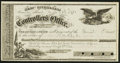 Obsoletes By State:Nevada, Carson, NV- Controller's Office $4.95 Aug. 1, 1871 Warrant. ...