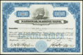 National Bank Notes:Maryland, Baltimore, MD - 5 Shares Stock Certificate The National Marine BankCh. # 2453. ...
