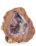 Lapidary Art:Carvings, Dugway Geode. Utah. 4.45 x 3.86 x 3.35 inches (11.30 x9.80 x 8.50 cm). ...