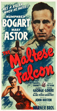 "The Maltese Falcon (Warner Brothers, 1941). Three Sheet (41"" X 79"")"