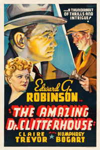 """The Amazing Dr. Clitterhouse (Warner Brothers, 1938). Other Company One Sheet (27"""" X 41"""")"""