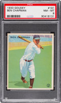 Baseball Cards:Singles (1930-1939), 1933 Goudey Ben Chapman #191 PSA NM-MT 8 - None Higher. ...