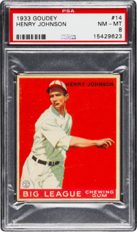1933 Goudey Henry Johnson #14 PSA NM-MT 8 - None Higher