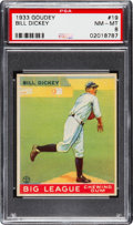 Baseball Cards:Singles (1930-1939), 1933 Goudey Bill Dickey #19 PSA NM-MT 8....