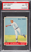 Baseball Cards:Singles (1930-1939), 1933 Goudey Bill Terry #20 PSA NM-MT 8....