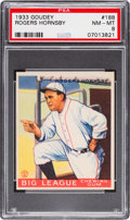 Baseball Cards:Singles (1930-1939), 1933 Goudey Rogers Hornsby #188 PSA NM-MT 8....