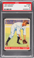 Baseball Cards:Singles (1930-1939), 1933 Goudey Joe Cronin #189 PSA NM-MT 8....